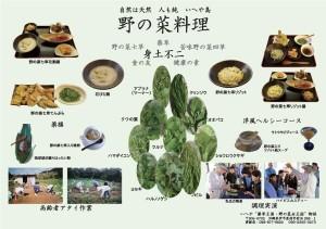 「野の菜料理」パンフレットの画像